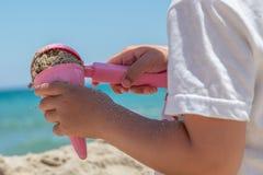 Roomijs van zand wordt gemaakt dat Royalty-vrije Stock Foto's