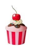 Roomijsijscoupe cupcake Stock Afbeelding