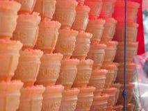 Roomijskegels royalty-vrije stock afbeelding
