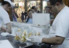 Roomijsverkopers in Aleppo Royalty-vrije Stock Afbeeldingen