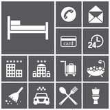 Rooming-Ikonen stock abbildung