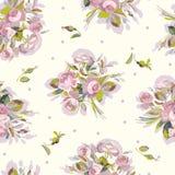 Roompatroon met roze boeket vector illustratie