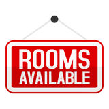 Rooms Available Sign Flat Icon on White Royalty Free Stock Images