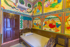 Rooms inside the Heritage Mandawa Royalty Free Stock Photo