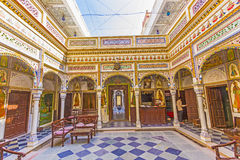 Rooms inside the Heritage Mandawa Stock Photo