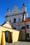 Rooms-katholieke Kathedraal in oud deel van Pinsk stock fotografie
