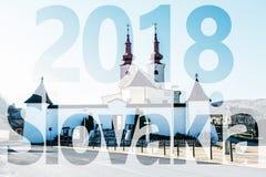 Rooms-katholieke kerk in Divin-dorp, PF 2018 Stock Foto's