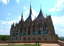 Rooms-katholieke kerk in Kutna Hora in de Tsjechische Republiek royalty-vrije stock fotografie