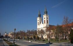 Rooms-katholieke kerk, Sombor, Servië Royalty-vrije Stock Foto's