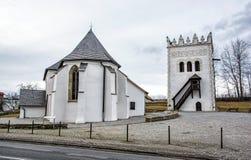 Rooms-katholieke kerk van St Anna met renaissanceklokketoren, S royalty-vrije stock fotografie