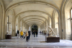 The rooms of the Louvre Royalty Free Stock Images