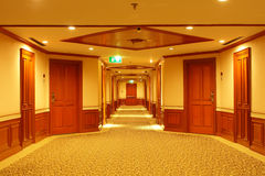 Rooms and pathway for exit of hotel Royalty Free Stock Photos