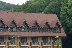 Rooms for rent in Carpathian mountains Royalty Free Stock Photos