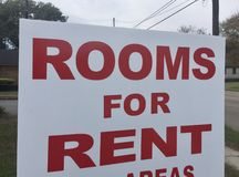 Rooms for Rent Short Term Rental Property stock photo