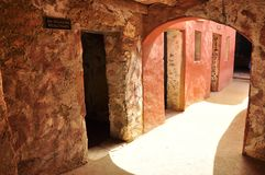 Rooms of slaves, house of slaves , senegal. The House of Slaves (Maison des Esclaves) and its Door of No Return is a museum and memorial to the Atlantic Slave Royalty Free Stock Images