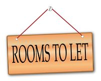 Rooms To Let stock illustration