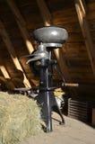 Roomseparator in een schuur hayloft Stock Foto's