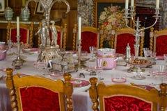 RoomV de Dinning en la casa victoriana de Charlecote Fotos de archivo libres de regalías