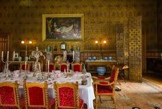 RoomV de Dinning en la casa victoriana de Charlecote Imagen de archivo libre de regalías