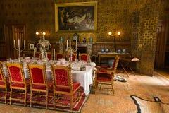 RoomV de Dinning en la casa victoriana de Charlecote Fotos de archivo