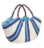 Roomy straw bag Stock Photo