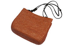 Roomy straw bag Royalty Free Stock Images