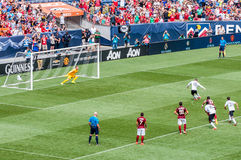 Rooney taking a penalty Royalty Free Stock Images