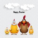 roorster child5 de poulet de famille Photo stock