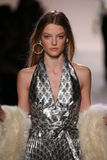 Roos Abels walks the runway at the Jeremy Scott show Royalty Free Stock Photography