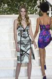 Roos Abels walks the runway at La Perla fashion show Stock Photography