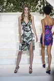Roos Abels walks the runway at La Perla fashion show Stock Image