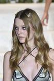 Roos Abels walks the runway at La Perla fashion show Royalty Free Stock Image