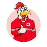 Rooser person med paramedicinsk utbildningillustration Arkivfoton