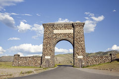 Roosevelt Arch. Is the north entrance to Yellowstone National Park Stock Photo