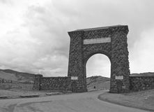 Roosevelt Arch, Yellowstone National Park Stock Images