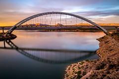 Roosevelt Bridge and Dam. In Arizona USA Stock Photos