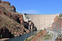 Roosevelt Dam en Arizona Photographie stock