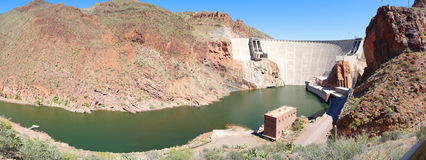Roosevelt Dam Panorama Photo libre de droits