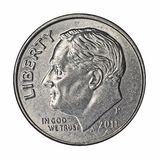 Roosevelt on dime Stock Photo