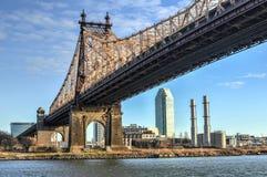 Roosevelt Island Bridge, Nueva York Foto de archivo
