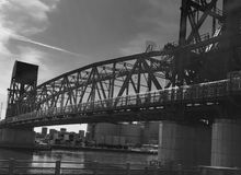 Roosevelt Island bro Royaltyfria Bilder