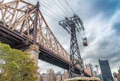 Roosevelt Island Cable Car, New York City royalty free stock photo