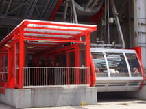 Roosevelt Island cable tram car in New York City. NEW YORK CITY - MAY 3: Roosevelt Island cable tram car that connects Roosevelt Island to Manhattan in New York Stock Photos