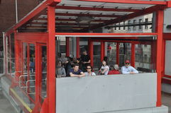 Roosevelt Island cable tram car in New York City Royalty Free Stock Photography