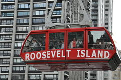 Roosevelt Island cable tram car in New York City Stock Image