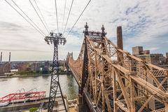 Roosevelt island and Ed Koch Queensboro bridge view from rooseve Royalty Free Stock Photo
