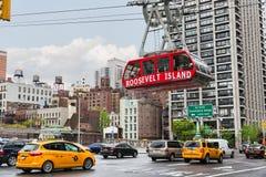 Roosevelt Island kabelspårvagn Arkivbild