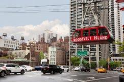 Roosevelt Island kabelspårvagn Arkivfoto
