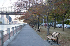 Roosevelt Island Promenade, New York City Royalty Free Stock Photos