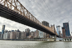 Roosevelt Island and Queensboro Bridge, Manhattan, New York Royalty Free Stock Images